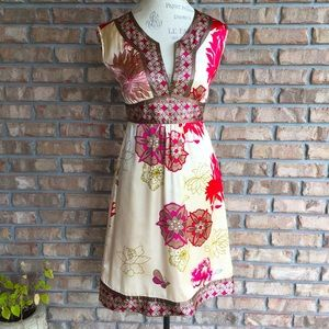 Anthropologie Pura Vita floral print dress.